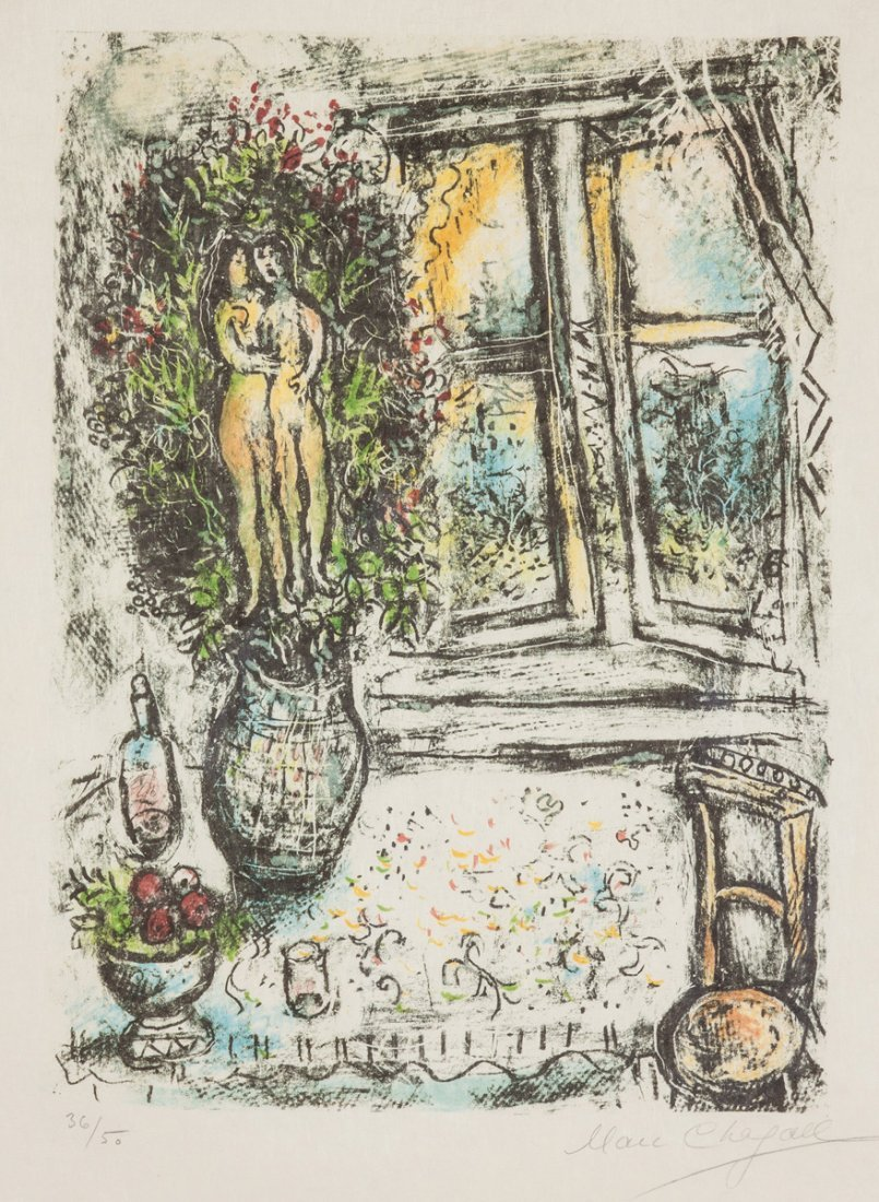 "Marc Chagall (Russian, 1887-1985) ""The Half Opened"