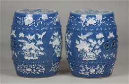 Pair of Chinese Garden Seats