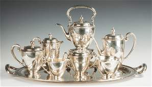 Tiffany  Co Sterling Silver 7Piece Tea Set with