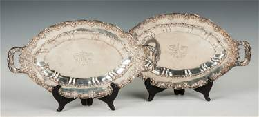 Tiffany  Co Makers Sterling Silver Serving Trays