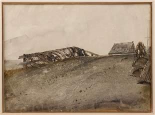 """Andrew Wyeth (American, 1917-2009) """"Fishnets, Nova"""
