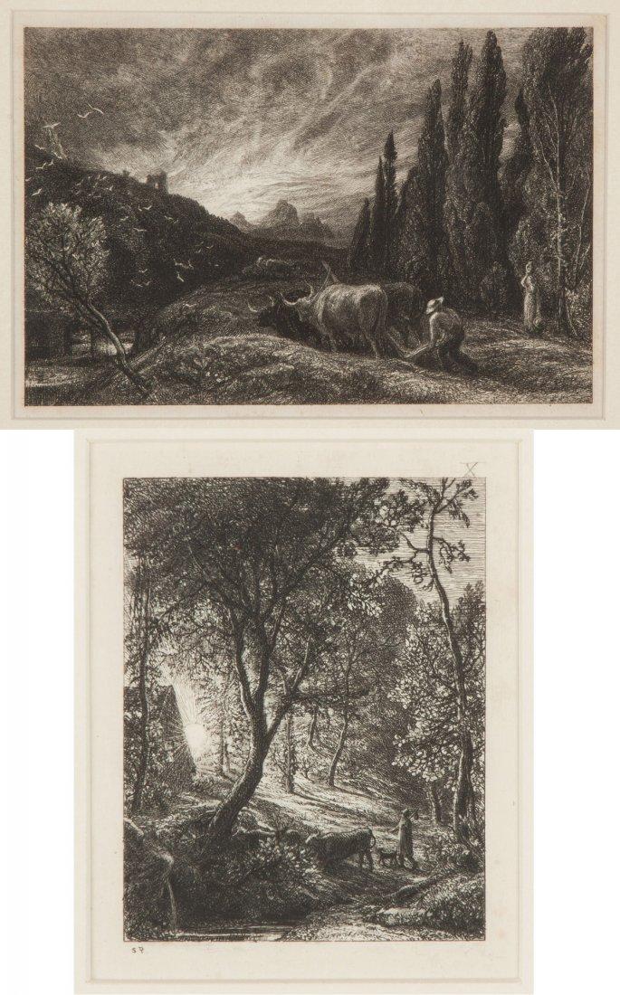 Two Samuel Palmer (British, 1805-1881) Etchings