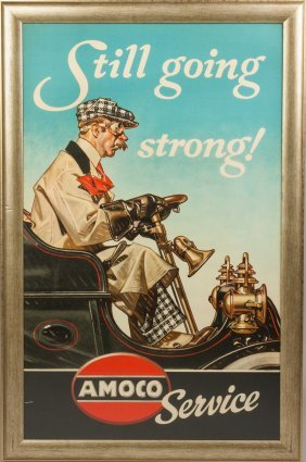 Vintage Amoco Service Poster