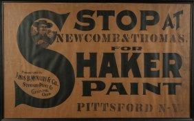 Newcomb & Thomas For Shaker Paint, Pittsford, Ny,