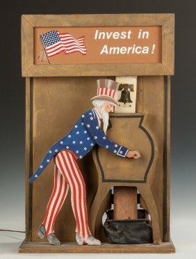 "Vintage Uncle Sam ""invest In America"" Automated Bond"