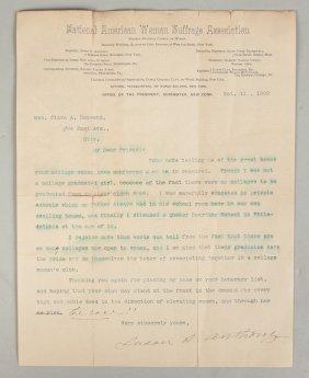 Susan B. Anthony Letter