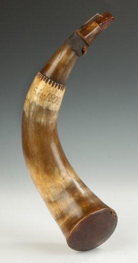 Large New England Rifleman's Powder Horn