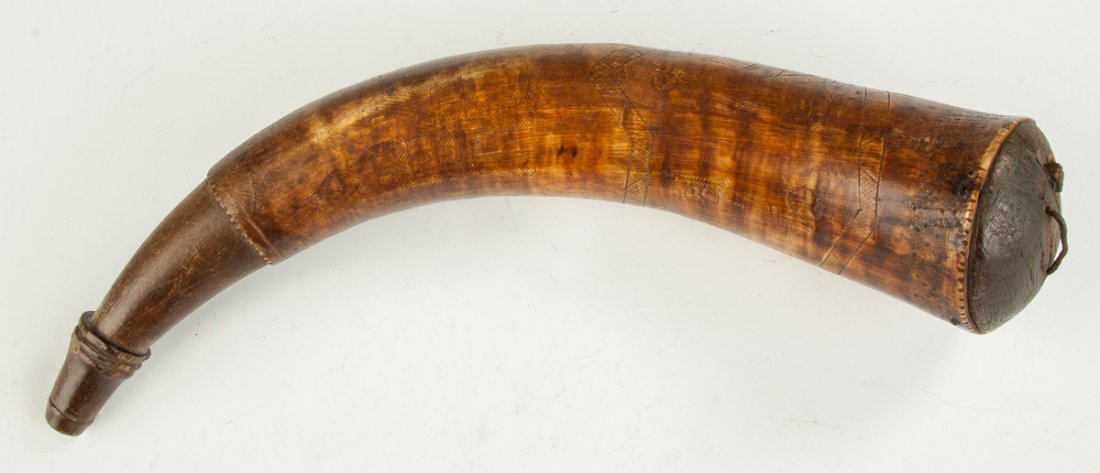 Large Rifleman's Powder Horn, French & Indian War
