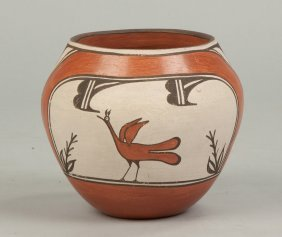 Helen Gachupin (american, 1931-1992) Zia Pot With Bird