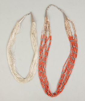 Sterling Silver & Coral & Turquoise Necklaces