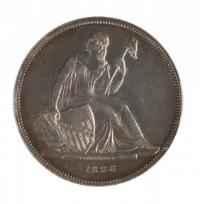 1836 J-60 Gobrecht One Dollar Silver Coin