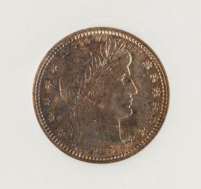 1907-o Silver Barber Twenty Five Cent