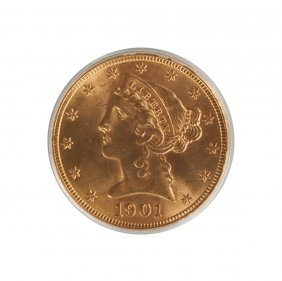 1901-s Liberty Head Five Dollar