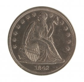 1842 Seated Liberty One Dollar