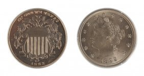 Shield And Liberty Head Five Cent Coins