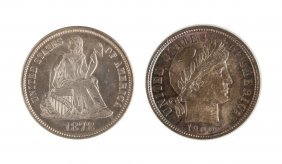 1878 & 1900 Ten Cent Coins