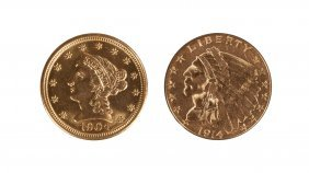 Two, Two Dollar Fifty Cent Coins