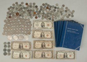 Group Of Vintage Coins & Currency