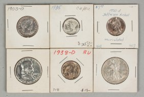 Six Various Coins