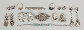 Group Of Vintage Misc Victorian Style Jewelry