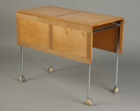 Firma Karl Mathsson Ash, Maple & Chrome Table