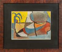 Contemporary Abstract Lithograph