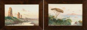 Two Federico Schianchi (italian, 1858-1919) Watercolors
