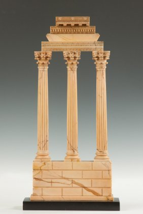 Grand Tour Giallo Antico Marble Model Of The Temple Of