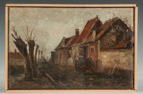 Attr. To Charles Gruppe (american, 1860-1940) Village
