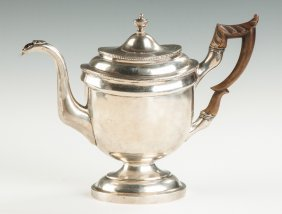 George Washington Riggs Sterling Silver Coffee Pot
