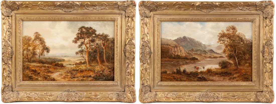 Theodore Rousseau (French, 1812-1867) Two landscapes
