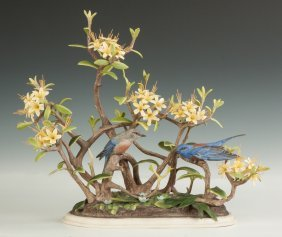 "Boehm Porcelain ""western Bluebirds"""