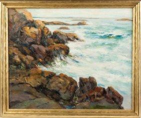 George Brodhead (american, Born 1860) Rocky Coastline