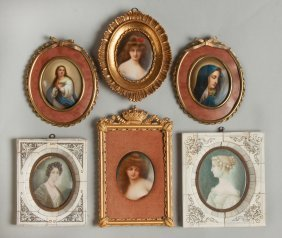 Group Of Six Miniature Paintings