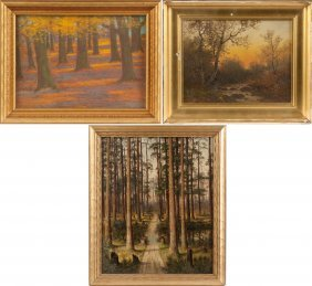 Three Landscape Paintings