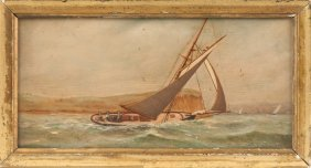 Seascape With Sloop