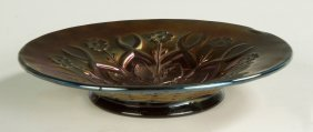 Amethyst Carnival Glass Dish