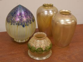 Four Art Glass Shades