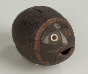 Carved Coconut Bank