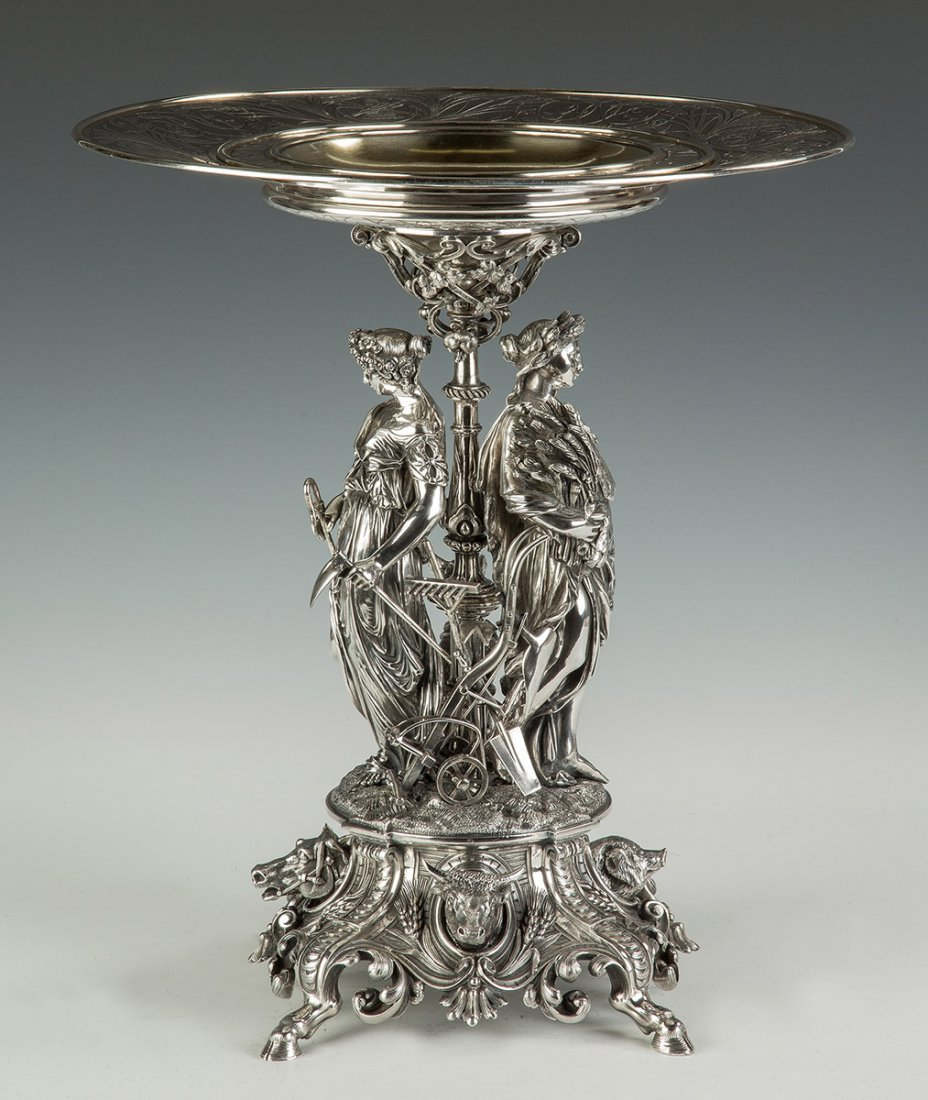 Fine and Monumental French Sterling Silver 1858