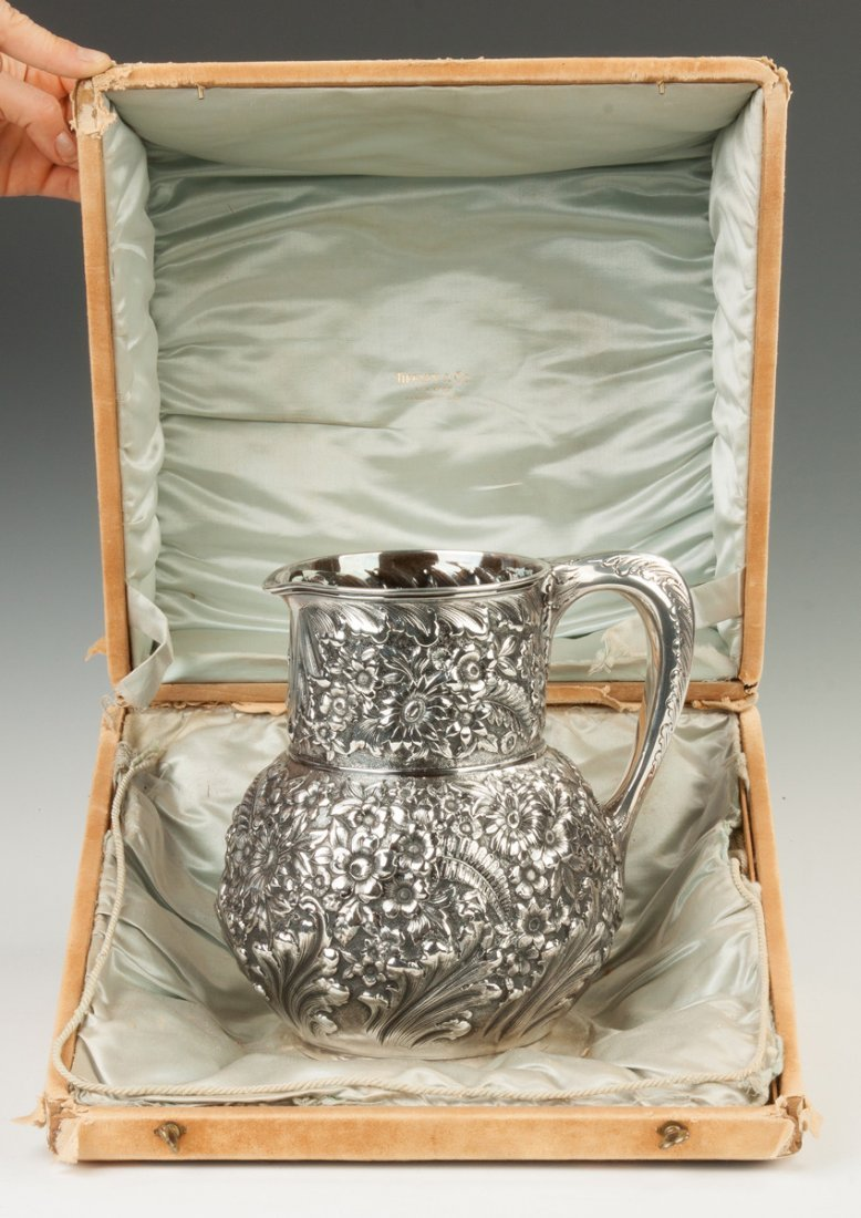 Fine Tiffany and Co. Sterling Silver Repousse Pitcher - 4
