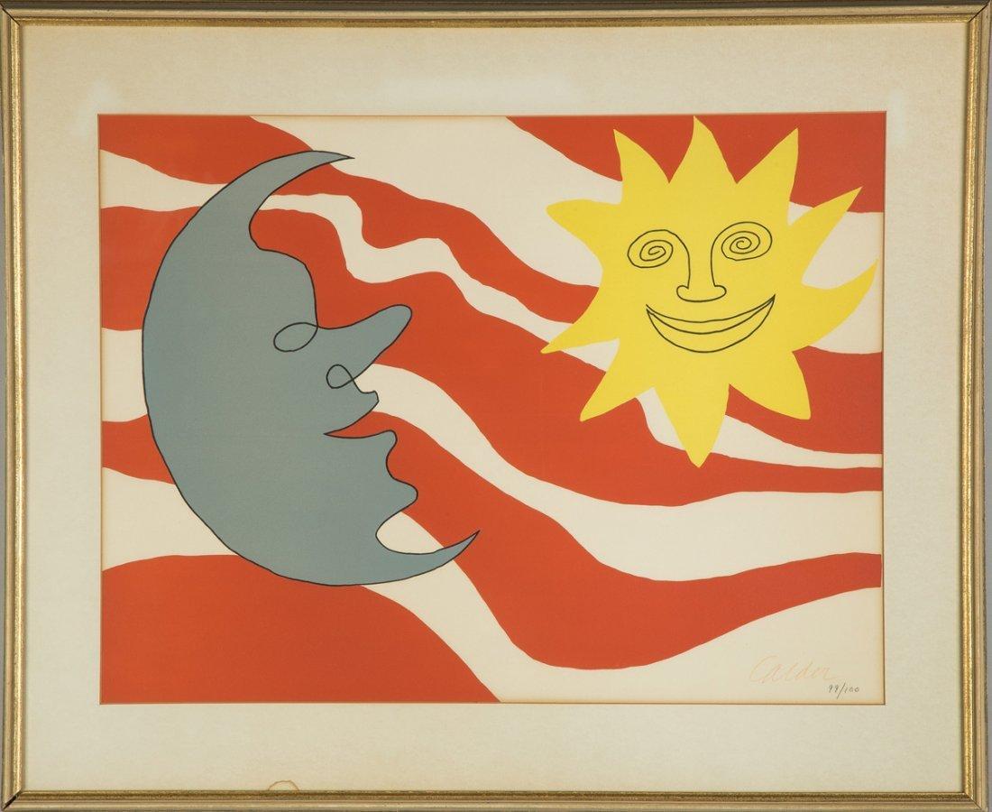 Alexander Calder (American, 1898-1976) Sun Face & Moon