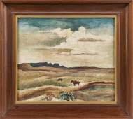 Thomas Hart Benton (American, 1889-1975) Landscape with