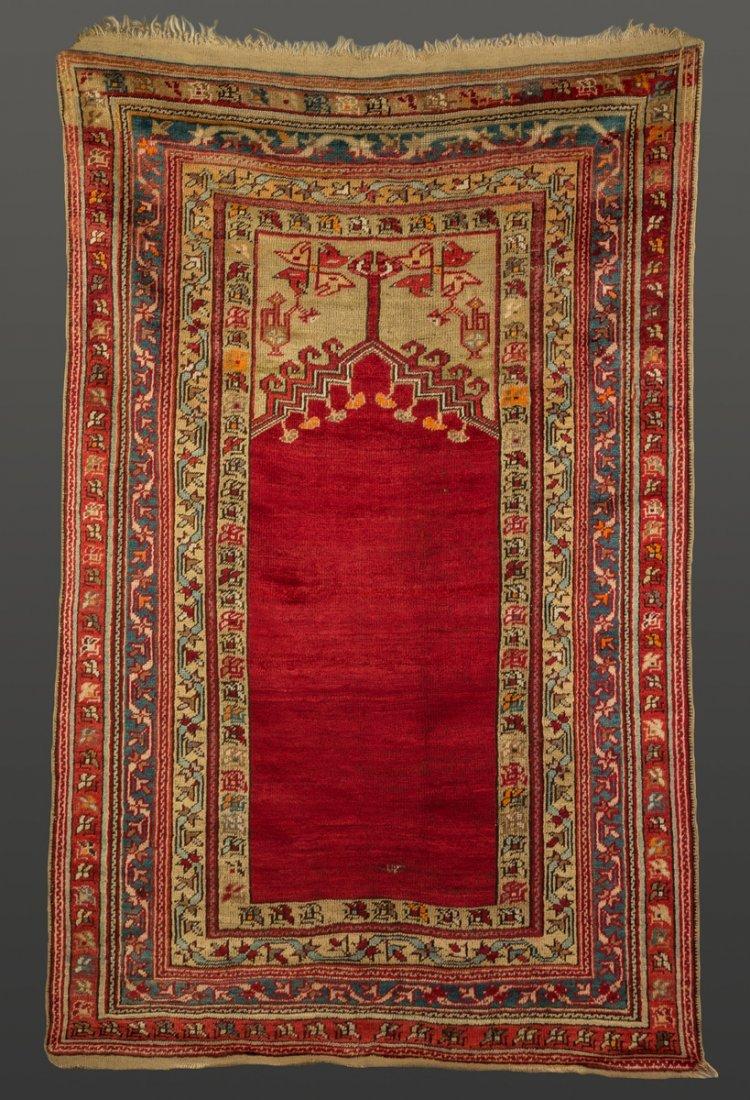 Turkish Oriental Prayer Rug