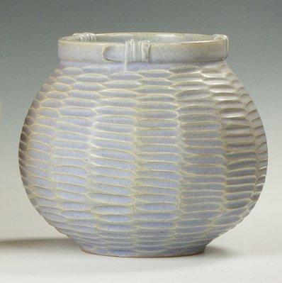 Japanese Ceramic Vase, Basket Form