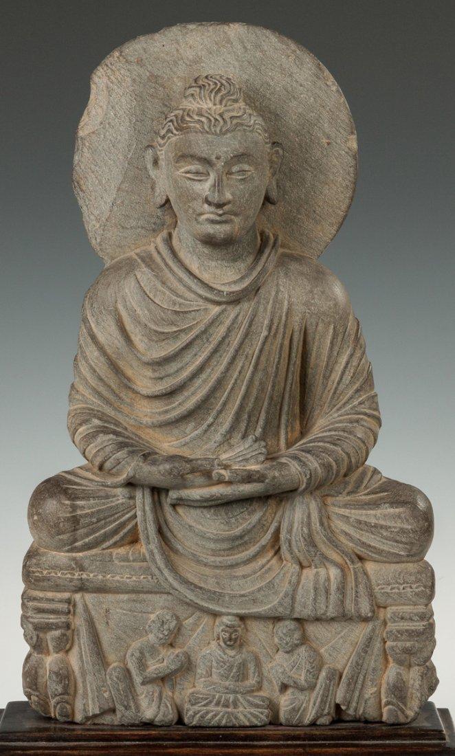 Gandahara Grey Schist Carved Buddha - 2