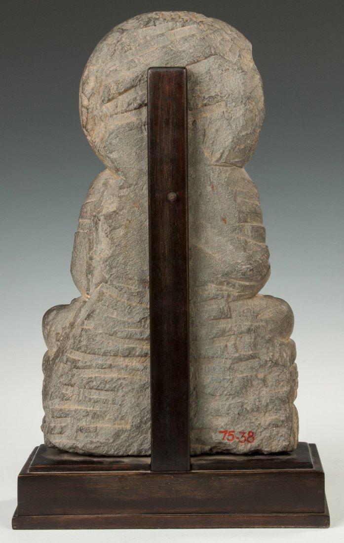 Gandahara Grey Schist Carved Buddha - 3