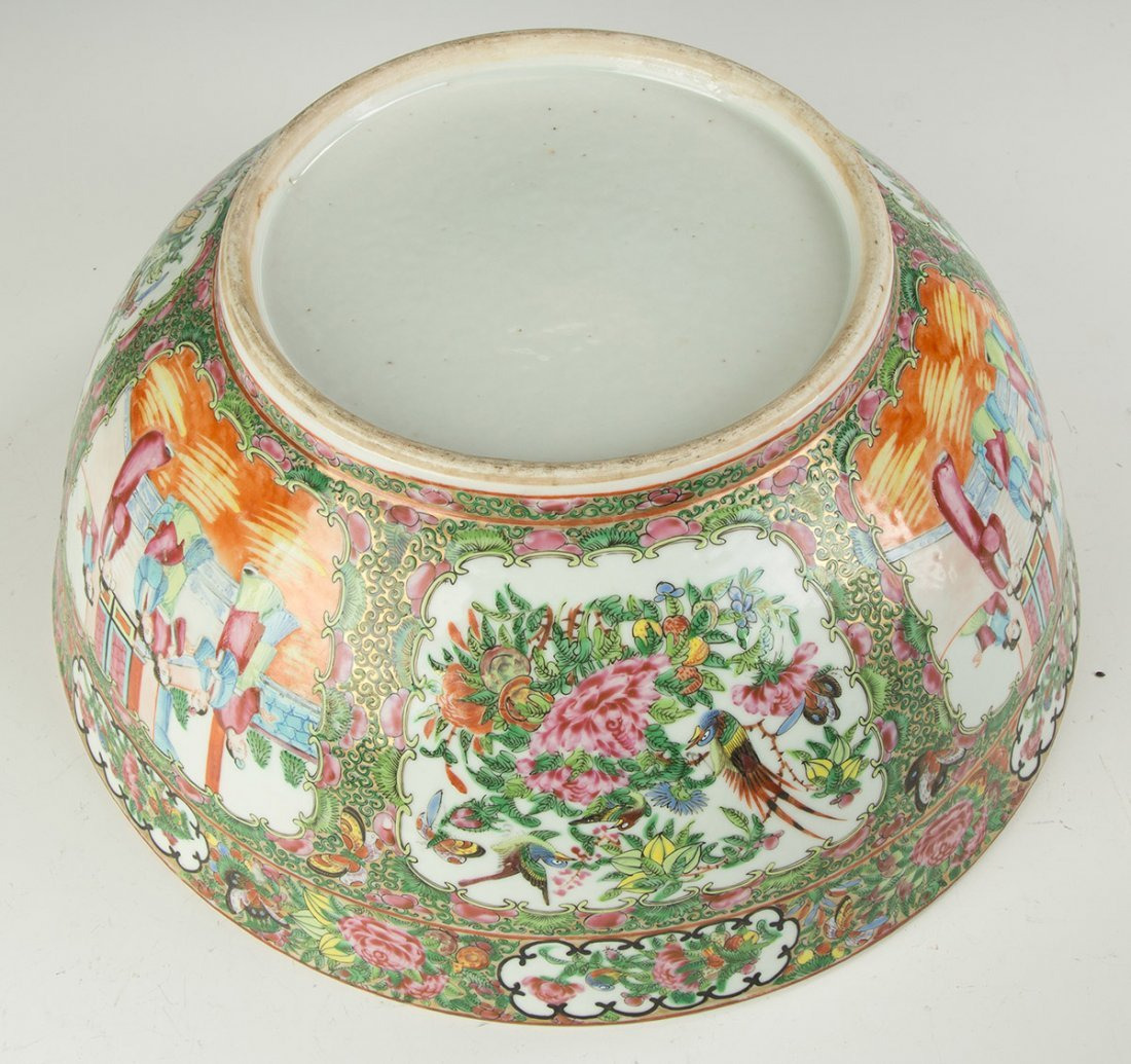 Chinese Export Rose Medallion Punch Bowl - 3