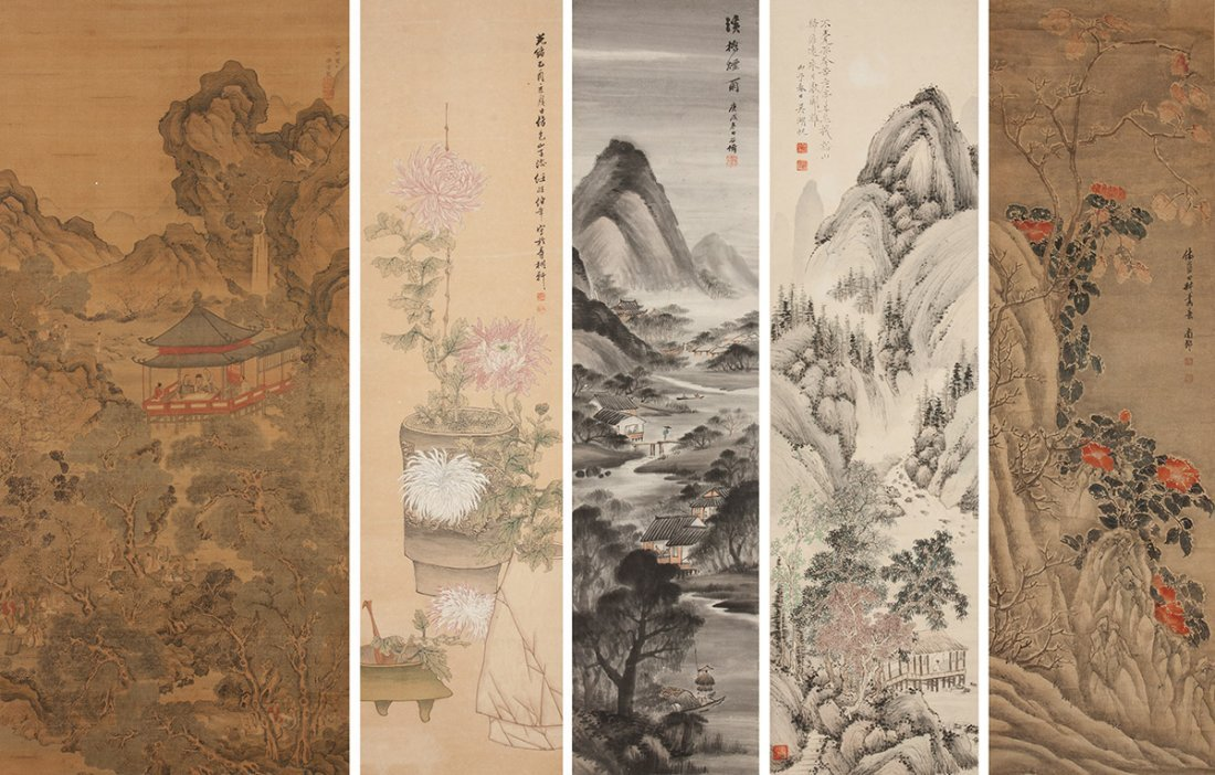 Five Chinese Scrolls