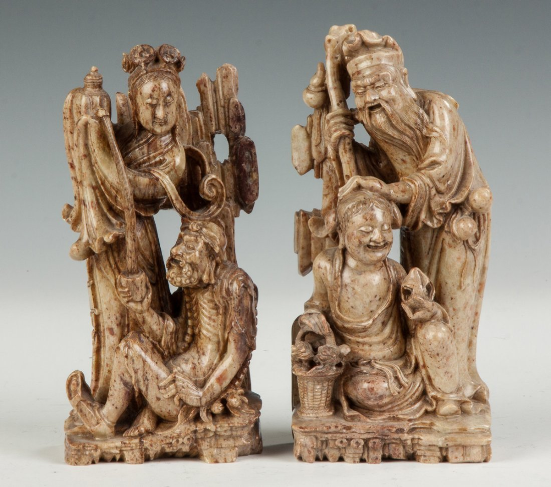 Carved Chinese Soapstone Immortals